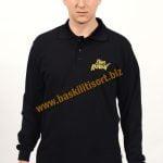 Polo Yaka Sweatshirt Siyah